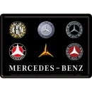 Mercedes-Benz - Logo Evolution - Blechpostkarte