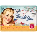 Thank You Girl - Blechpostkarte