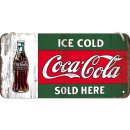 Coca-Cola - Ice Cold Sold Here - Blechschild