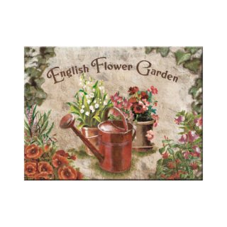 English Flower Garden Red Can - Magnet