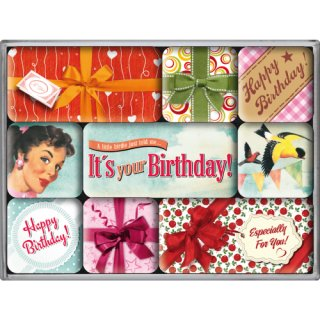 Say It 50s Happy Birthday - Magnetset