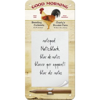 Good Morning - Notizblock-Schild